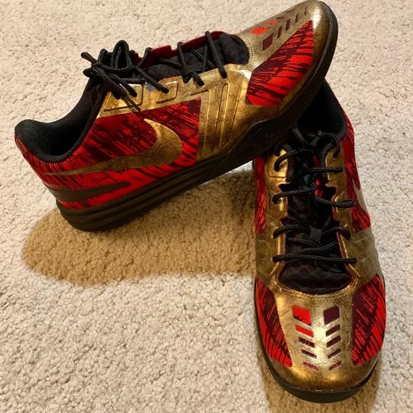 pretty nice c0291 b5fc4 Nike Kobe Mentality Red Gold Iron Man Size 11. M 5c5e424daaa5b8f1c83b7dd7
